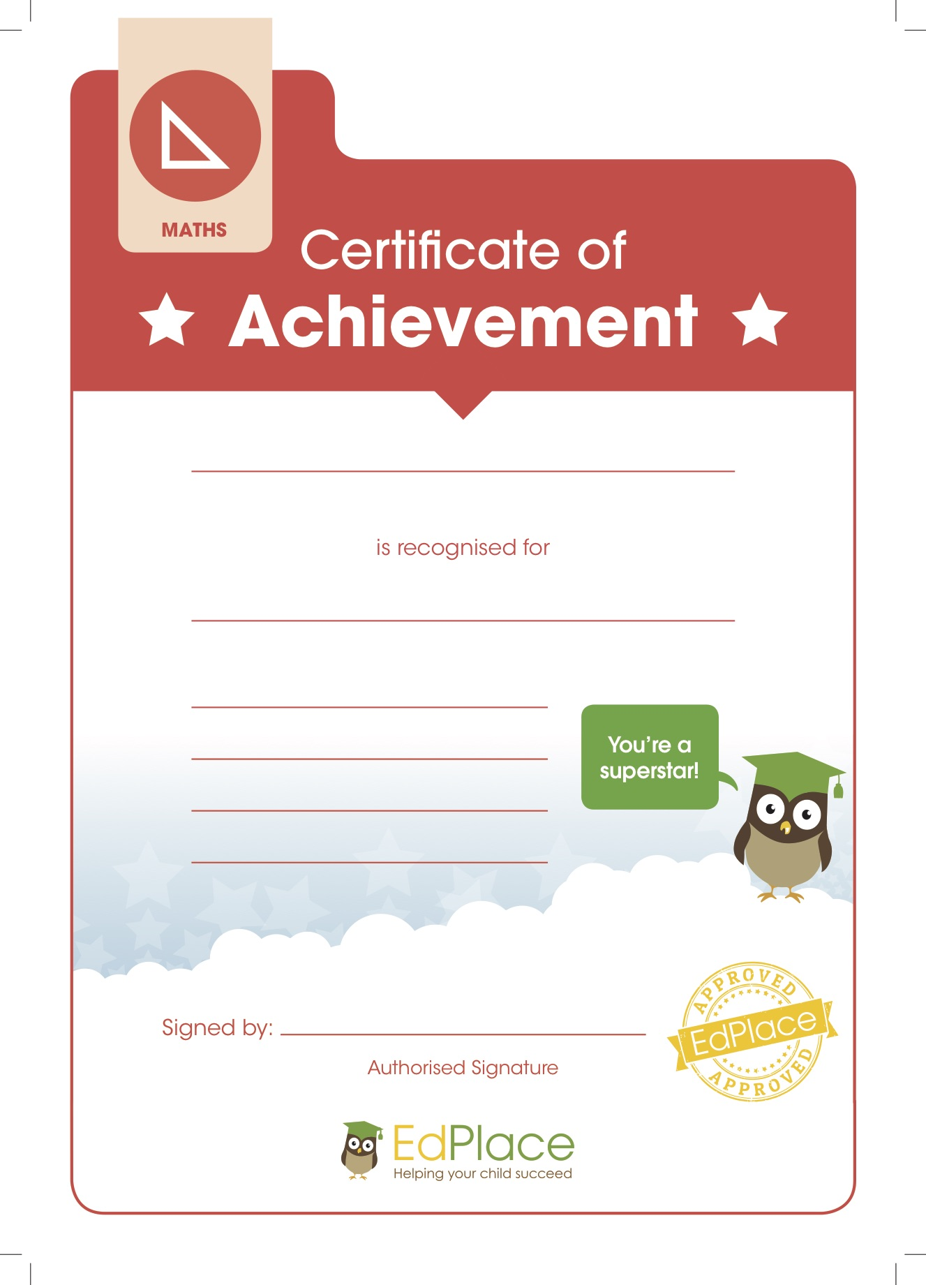 Certificate template (Maths)-HiRes