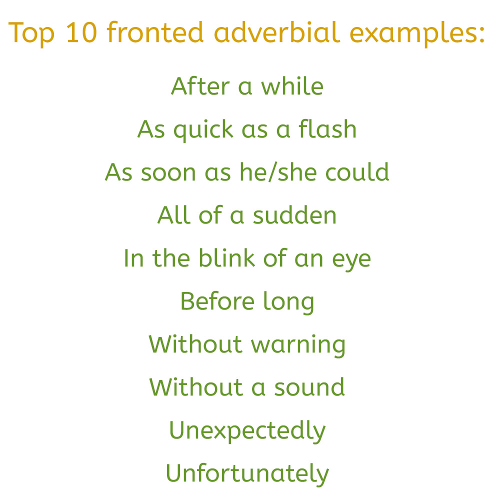 What are fronted adverbials