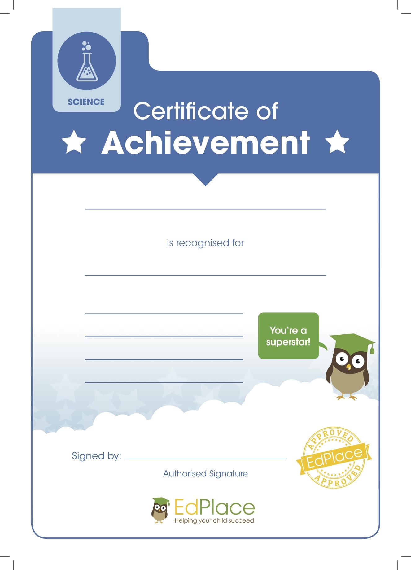 Science certificate