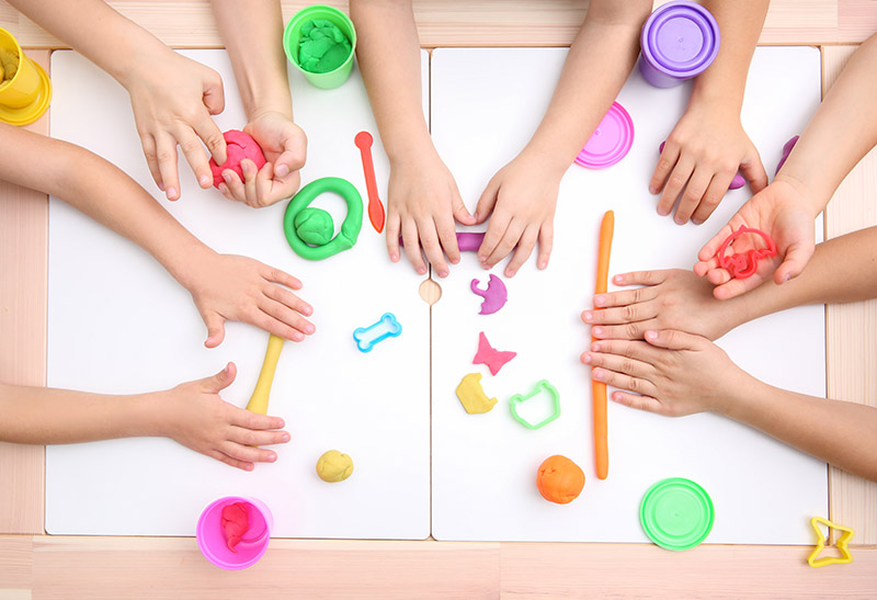 Playdough is great for fine motor skills