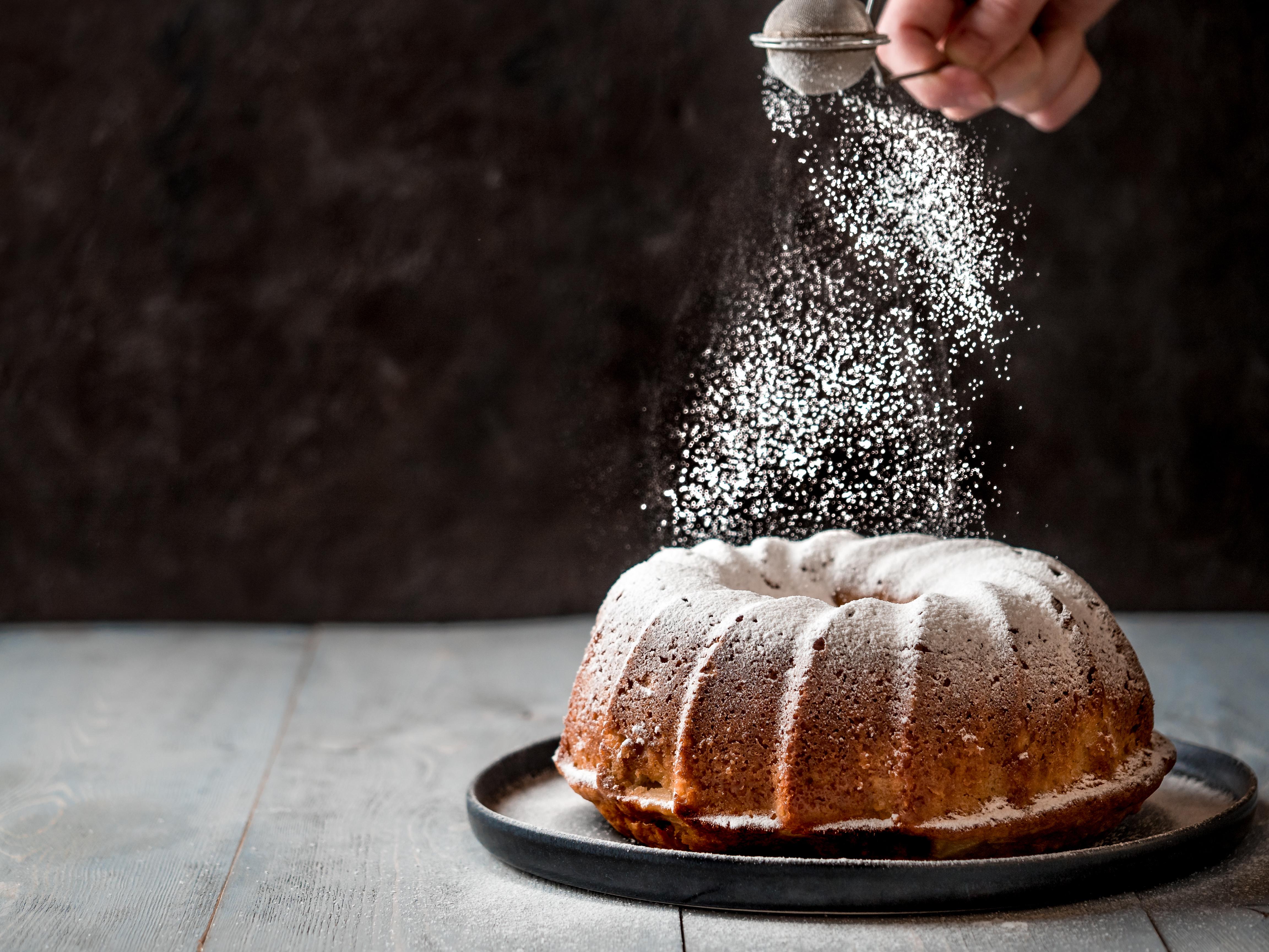 Icing Sugar on Cake