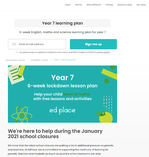 Learning Plan Blog example